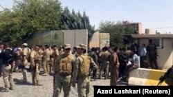 نیروهای امنیتی در نزدیکی استانداری اربیل