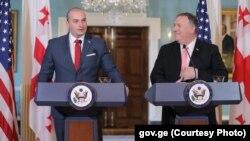 ԱՄՆ պետքարտուղար Մայք Փոմփեոյի և Վրաստանի վարչապետ Մամուկա Բախտաձեի համատեղ ասուլիսը Վաշինգտոնում, 11-ը հունիսի, 2019թ․
