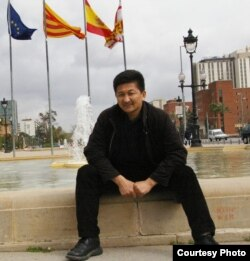 Жеңишбек Эдигеев Барселона шаарында. 27.3.2010.