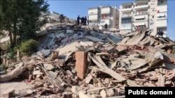 Последствия землетрясения в Изимире, Турция, 30 октября 2020 года.