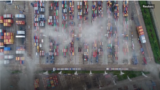 Containers with goods (Reuters/video grab)