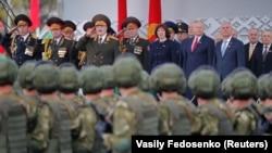 Военный парад в Минске. 9 мая 2020 года.