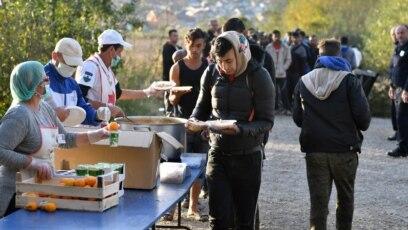 Improviziran migrantski kamp blizu Velike Kladuše, 25. oktobar 2018.