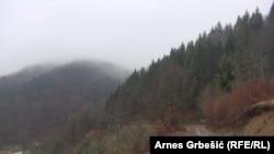 Planina Očauš u blizini Teslića
