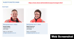 Хендрик Вебер и Метте Росенлунд на сайте немецкой компании DESOI