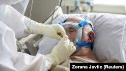 COVID odjeljenje bolnice u Novom Pazaru, Srbija (15. mart)