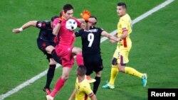 Pamje nga ndeshja e mbrëmshme Shqipëri - Rumani 1:0