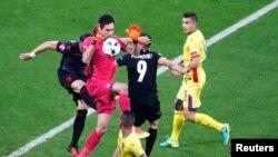 Pamje nga ndeshja Shqipëria - Rumania 1:0