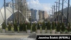 Barikada na Ibarskom mostu, tzv. Park mira