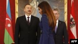 Heinz Fischer, Ilham Aliyev və Mehriban Əliyeva
