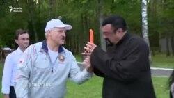 Lukashenka tanınmış aktyor Steven Seagala kök yedizdirdi