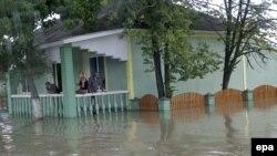 Inundații la Drepcăuți, în 2008