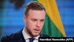 Министерот за надворешни работи на Литванија Габриелиус Ландсбергис.