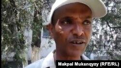 Беженец из Эфиопии Негусса Тессема в Алматы. 20 июня 2016 года.