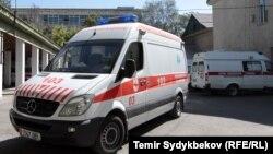 Машины скорой помощи на Бишкекской станции скорой помощи. Иллюстративное фото.