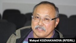 «Намыс» қоғамдық бірлестігінің жетекшісі Қайрат Иманалиев. Алматы, 22 мамыр 2014 жыл.