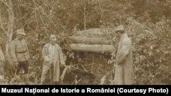 Amintiri din timpul războiului, iulie 1917; sursa: Expoziția Marele Război, 1914-1918, Muzeul Național de Istorie a României
