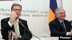 Armenia - Guido Westerwelle, Foreign Minister of Germany, and Edward Nalbandian, Foreign Minister of Armenia, at a joint press conference in Yerevan,16Mar2012