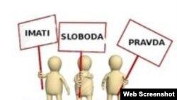 """Logo neformalne grupe """"Uličnim protestima protiv mafije"""" na Fejsbuku"""