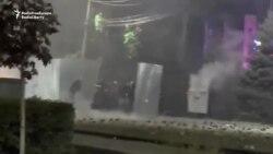 Gyrgyz polisiýasy protestçileri gazaply dargatdy