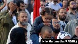 احدى المظاهرات الاحتجاجية في ميدان التحرير بالقاهرة (من الارشيف)