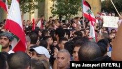 Акция протеста в Бейруте. Ливан, 23 августа 2015 года.