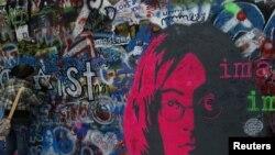 Češka, sjećanje na Lennona, Prag, 2010. Foto: Reuters / Petr Josek