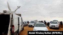 Группа журналистов в окрестностях Кобани. 27 ноября 2014 года.