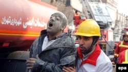 Firefighters Feared Dead After Tehran Tower Collapse