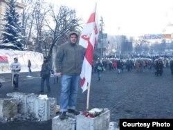 Дмитро Галко на Євромайдані. Київ, 2014 року