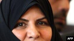 Iran's first woman cabinet member, new Health Minister Marzieh Vahid Dastjerdi