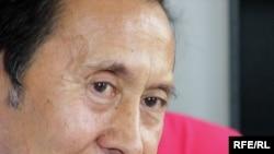 Қаһарман Қожамберді, Қазақстандағы ұйғыр қауымдастығының жетекшісі, Дүниежүзілік ұйғыр конгресінің мүшесі. Алматы, 9 шілде 2009 жыл.