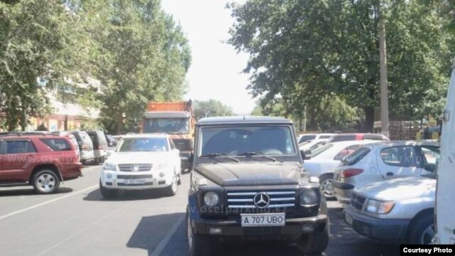 Bad parking in Kazakhstan