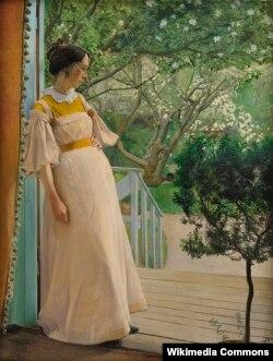 Лаўрыц Андэрсэн Рынг, «Дзьверы ў сад. Жонка мастака» (1897)