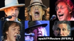 Bob Dylan, Mick Jagger, Roger Daltrey, Paul McCartney, Neil Young și Roger Waters