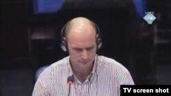 Svjedok Paul Groenewegen u sudnici 13. siječnja 2012.
