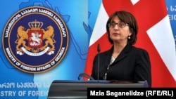 "Georgian Foreign Minister Maia Panjikidze says Georgia ""is pursuing democratic reforms and strengthening democracy"" in its pursuit of becoming a NATO member."