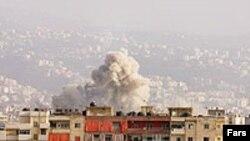 نمایی از شهر زاهدان به هنگام انفجار روز چهارشنبه