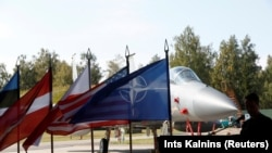 F-15C истребители Шауляй базасында. 30-август, 2017-жыл.