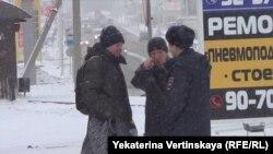 Уличная сцена в Иркутске