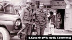 Город Гардез. 1987 год. Армейский УАЗ-469 56-й отдельной десантно-штурмовой бригады (ДШБ) 40-й армии Отдельного контингента советских войск в Афганистане (ОКСВА)