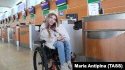 Юлия Самойлова в аэропорту «Шереметьево». 14 марта 2017 года