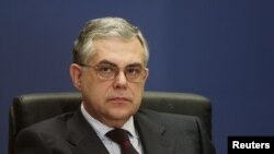 Caretaker Greek Prime Minister Lucas Papademos is a former deputy head of the European Central Bank.