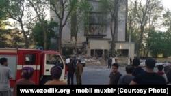 Uzbekistan - gas explosion in Labzak array of Tashkent city