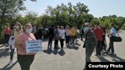 Протест на текстилни работнички.