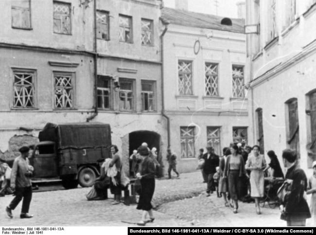 Июль 1941 года, жители Минска