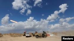 قوات عراقية مدعومة بالحشد الشعبي تشتبك مع داعش في صلاح الدين - 2 آذار 2015