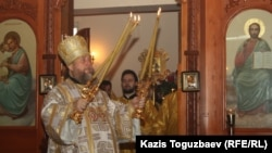 Митрополит Александр, глава Русской православной церкви в Казахстане. Алматы, 12 декабря 2013 года.