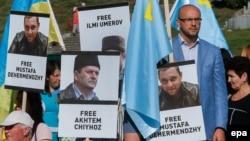 Акцыя ў падтрымку Чыйгоза, Умерава і іншых крымскіх палітзьняволеных