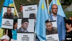 Акция в поддержку Чийгоза, Умерова и других крымских политзаключенных
